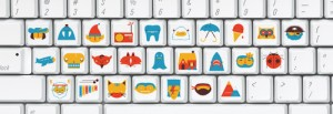 KEYBOARD STICKER SET by Christopher Delorenzo
