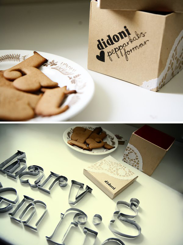 Didoni cookie cutters by Tove Hedman