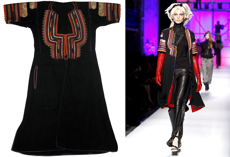 Can you spot the differences? Jean Paul Gaultier copied Bulgarian traditional garment in his Fall 2010 ready-to-wear collection.
