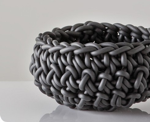 Crocheted Rubber Bowls by Neo