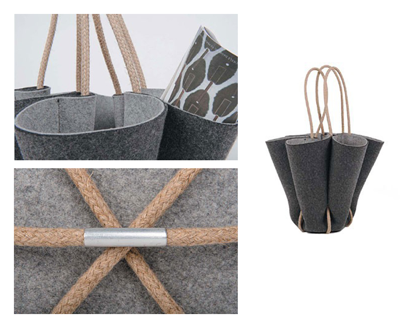 Handmade Limited Edition Felt Basket by Weidesign