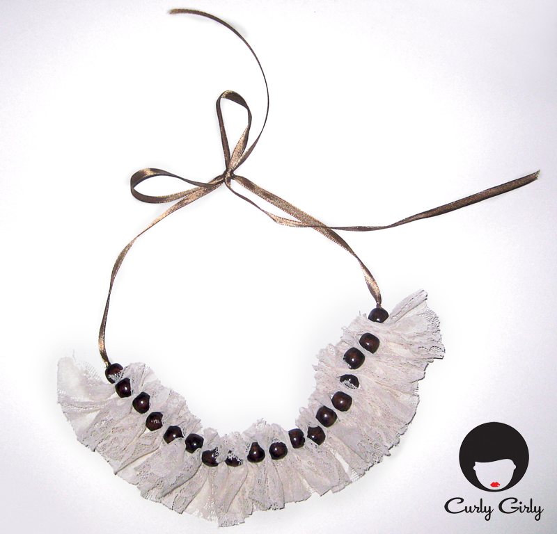 Charming Handmade Lace Necklace designed by Curly Girly
